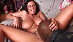 Blowjob fucking in car with big natural boobs