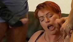 Busty german mature milf in stockings banged hard