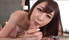 Attractive Japanese babe gets rubbed