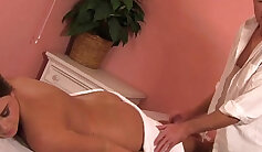 Alexa tender clean-shaven pussy twat at the massage