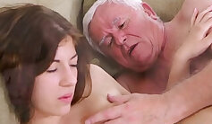 Blowjob ride by a young girl