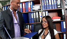 Boss fucks Fox Agent and Veronica St Richardson on Privated Mile High