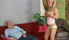 Blonde teenie Casey Calvert strips and masturbates