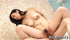 Angry mommy with a thick dick is on her knees stripping