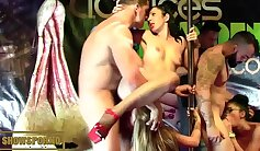 Amazing looker is enjoying orgies with her coochie-shots