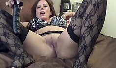 Black stocking MILF expertly shows off her curves