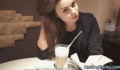 Casting petite brunette Anna Masuda deepthroated