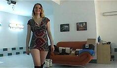 amateur czech grinding her black tercha-m around