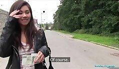 Asian milf fucked hard in public for money