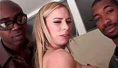 Cliffhanger Titty Fuck and Interracial Threesome