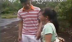 Busty Thai maid takes a public ride