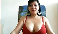 Breasty mature takes a hard ride