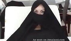 Arab MILF with big natural tits takes big cock