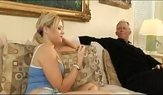 Babysitter Blackmailed by Grandpa For Your Cum