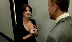 Busty secretary gets punished in her office