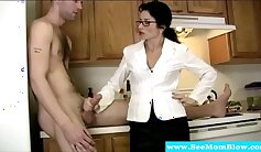 Cougar Kylie Amore Giving Sexy Blowjob Except For Cock