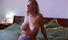 Busty euro sucking and riding cock