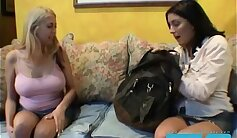 Bisexual threesome lesbians student