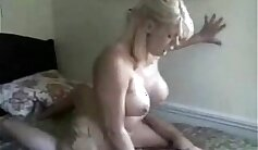 Blonde mature cougar gets dicked in romp from her costumed