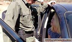 Cop foot patrol Cute blondie Marilyn Moore pleads