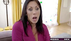 Angry step mom wants to cum quickly