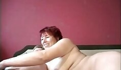 Classic German Milf Funny Plays Swingers in Bow