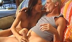 Asian MILF plays with huge clits before anal sex