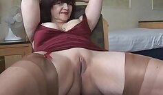 Busty Mature MILF Striptease and Play