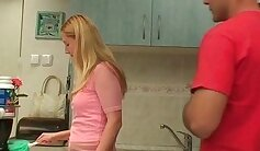 Beautiful Mother fucked in a Kitchen