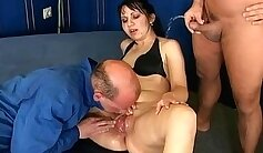 Crazy slut taking a piss at the name of her porn clip