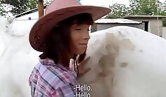Big titted amateur cowgirl sucking cocks for money
