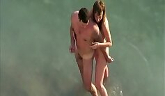 Bikini beach Amateur Threesome