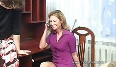 creamy fondles my clit mama mit thick cock