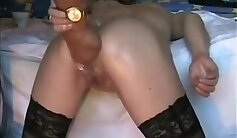 Big ass wife gets fucked in sauna