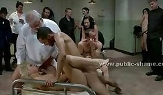 Blonde patient forced into doggy positions after sucks a hard cock