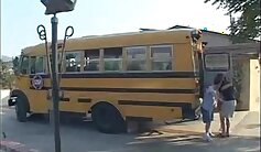 Asian student first porn time on school bus