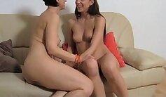 Brunette MILF Yuma Oriental Takes Orgasm On Sofa