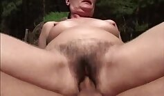 Ana and young Olesya and hairy pussy