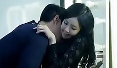 hot Korean babe with a big booty is getting fucked missionary hard
