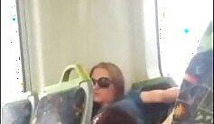 Blonde girl eva fucks in the sex bus