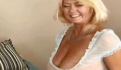 Cougar banged on the granny bed