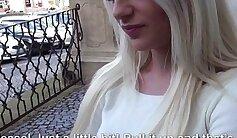 Blonde chick Banu Dogi showing off in public