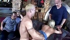 Busty housewife pussylicked while hd husband plays