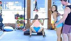 Angeles Fitness Teacher - muscular babe enjoying a threesome