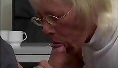 Big red cock makes a ganuh horny Granny