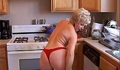 Blonde grandma gets a large dose of pussy juice