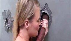 Blonde Girl Fucks Employee In Public
