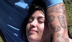 ASMR Emo Teen Woman at Outdoor Photo Booth