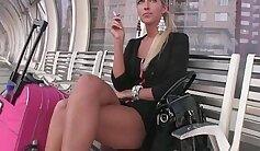 Blonde Heather Fucked in Public. Sex tape