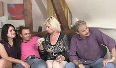 Big Daniels family recording xxx lesbian threesome